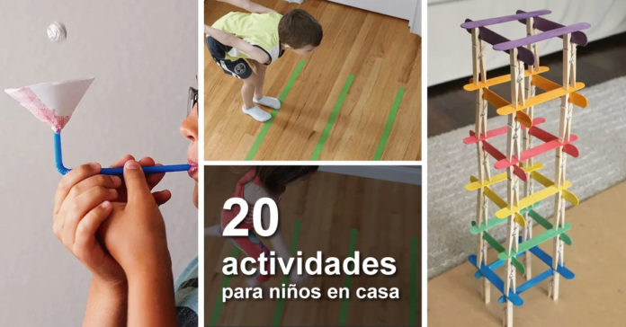 20 Juegos económicos y divertidos para disfrutar con tus pequeños en casa