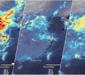Vídeo satelital: China regresa a la producción y la contaminación vuelve