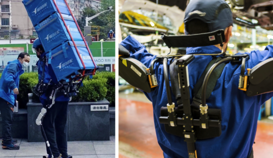 Mensajeros en China comienzan a usar exoesqueletos para cargar hasta 50 kg como si nada
