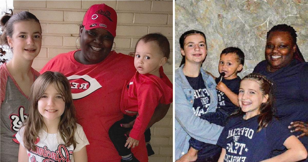 Madre afroamericana adoptó 3 niños blancos y confiesa lo que siempre le preguntan en la calle