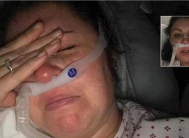 """Enfermera con corona suplica a los doctores que""""no la dejen morir"""" para poder ver a sus hijos otra vez."""