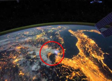 Imágenes capturadas por la estación espacial internacional se viralizan rápidamente.