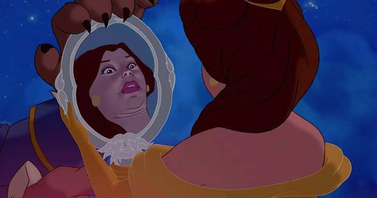 14 Princesas de Disney reimaginadas con divertidas expresiones más naturales y menos hermosas