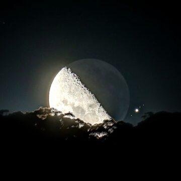 Esta noche hay espectáculo nocturno: conjunción entre la Luna y Marte.