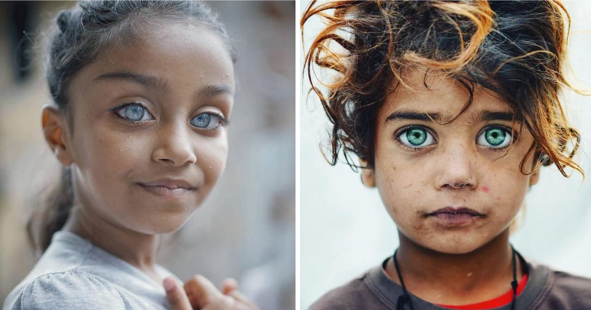 Fotógrafo captura la belleza de los ojos de niños que brillan como gema (20 fotos)