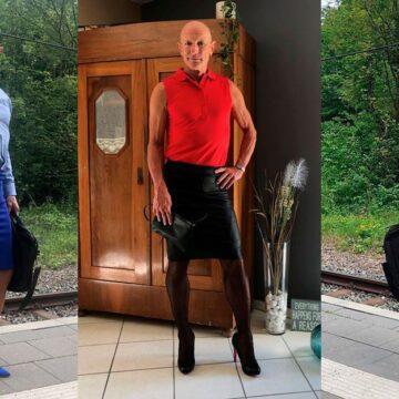Un hombre rompe los estereotipos y viste falda con tacones todos los días