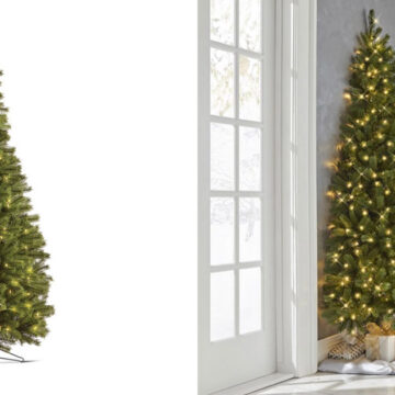 Árbolitos de navidad por la mitad una gran idea para espacios pequeños