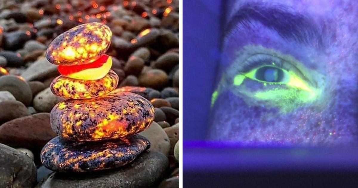 19 Objetos comunes que lucen totalmente distintos bajo la luz ultravioleta
