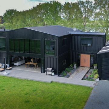 Esta casa de lujo fue construida solo con contenedores y ahora vale $350.000 dólares