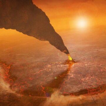 De esta impresionante forma se vería una erupción en Venus