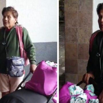 Hija abandona a su madre enferma en la central de autobuses