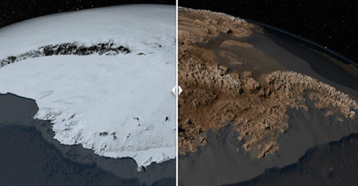 Así se observa desde el espacio el deshielo de la Antártida