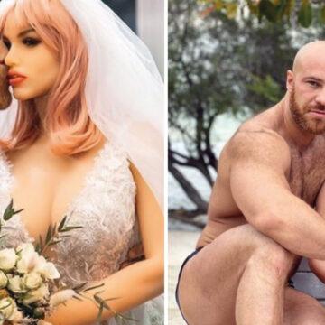 Tras 18 meses de relación un hombre se casa con su muñeca para formar una familia.