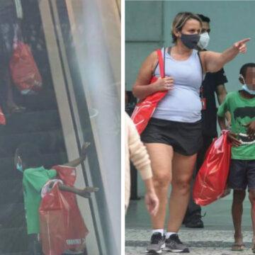 Dos niños huérfanos le ofrecen dulces a una famosa y ella los rechaza con un fin