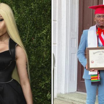 La famosa Niki Minaj le pagó la universidad a este estudiante. Hoy se convierte en licenciado