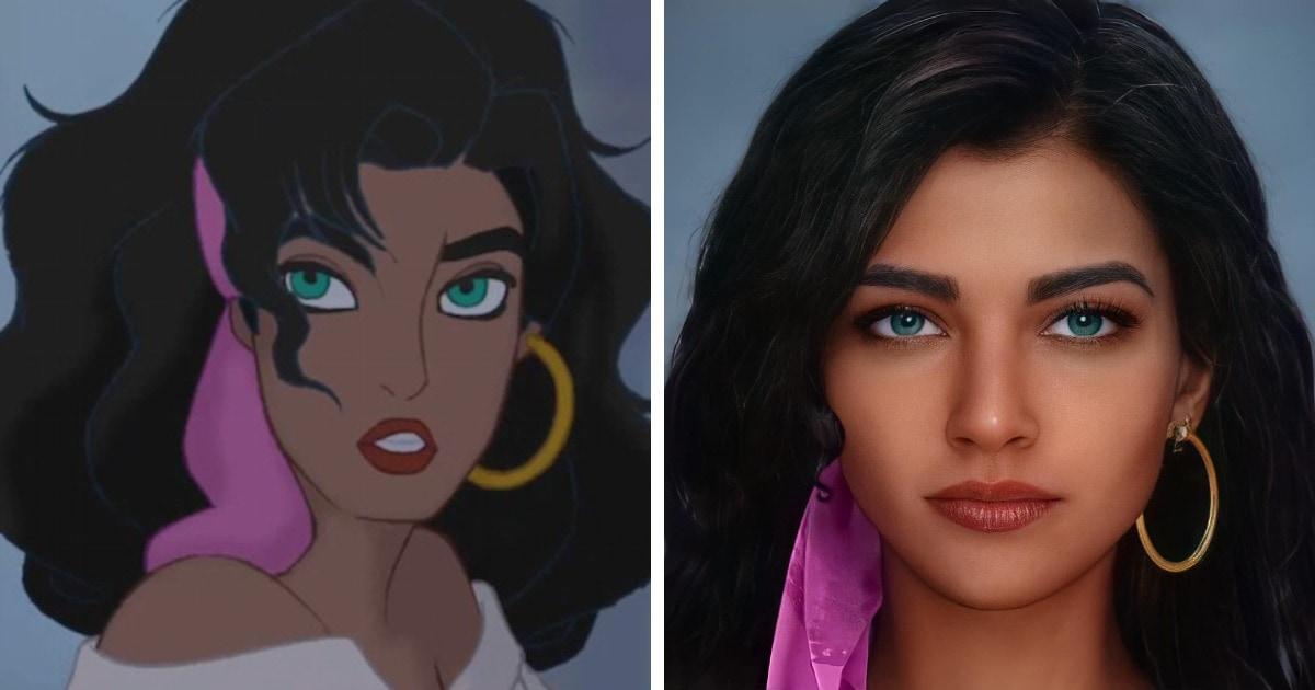 Artista usa inteligencia artificial para mostrar los personajes de Disney como no los habías visto