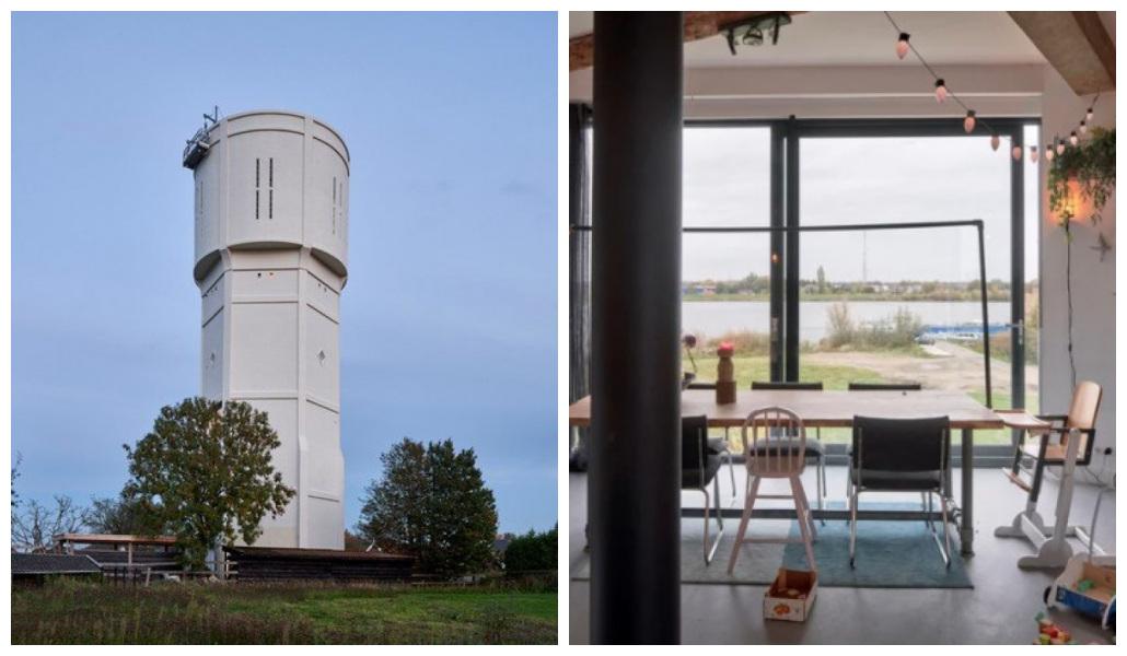 En Países Bajos convierten en dos lujosas casas familiares una torre de agua abandonada