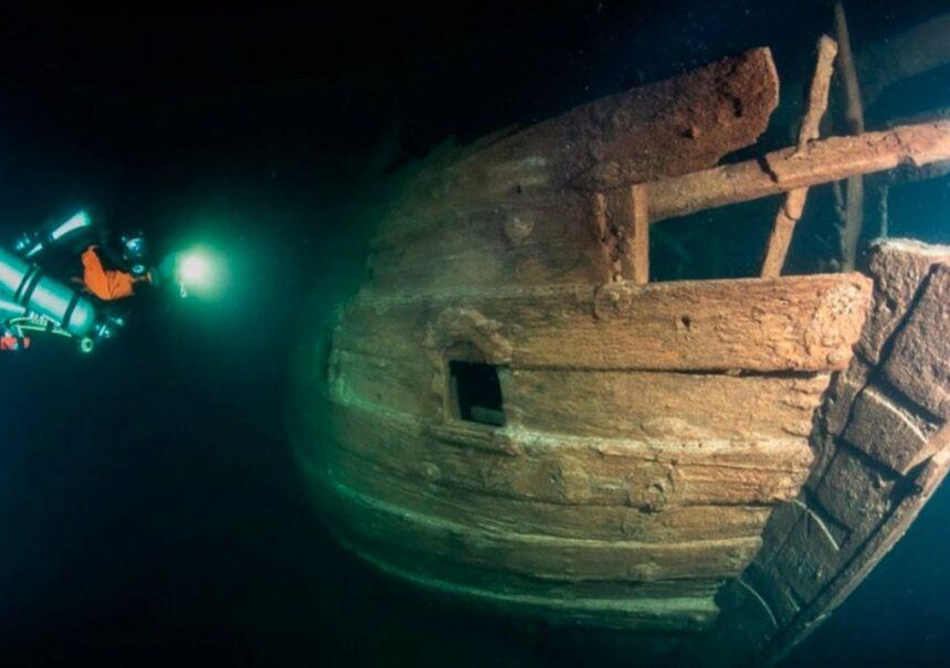 Encuentran un misterioso barco de hace 400 años hundido a 85 metros de profundidad en Finlandia