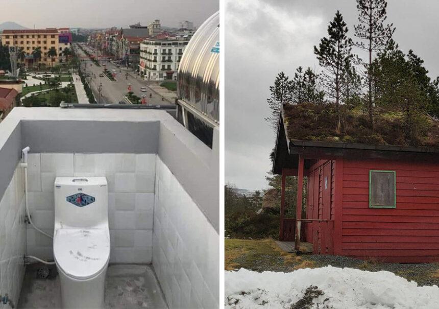 15 Arquitectos que destruyeron el sentido común al construir los techos de estas casas