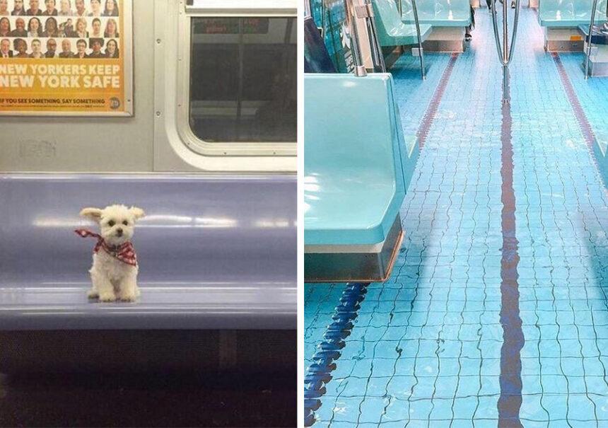21 Fotografías que muestran lo más extraño que puedes encontrar en el metro