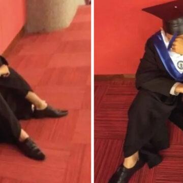 Llora en su graduación, porque su familia lo dejó solo… ¡otra vez!