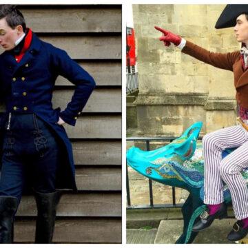 Joven inglés viste ropa histórica desde los 14 años. Se roba la mirada de todxs