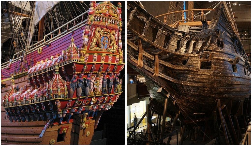 Es extraído del mar báltico y se mantiene completamente intacto este navío del siglo XVII