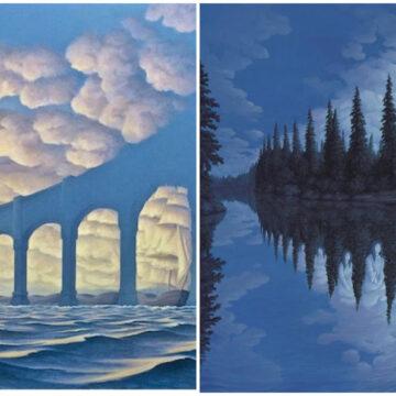 Pinturas que despiertan tu imaginación mostrándote dos escenas en una