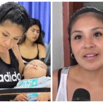 Asistió a la prueba de admisión de la universidad con su hijo de 4 meses. Muchos critican el acto de la madre