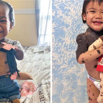 Un artista hace muñecos que se parecen a los niños con diferencias físicas
