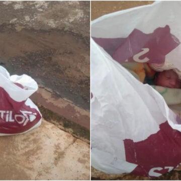Empresaria consigue a un recién nacido en una bolsa y decide adoptarla.