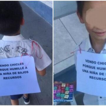 Niño de 10 años es obligado a ser vendedor ambulante para así aprender una lección de vida