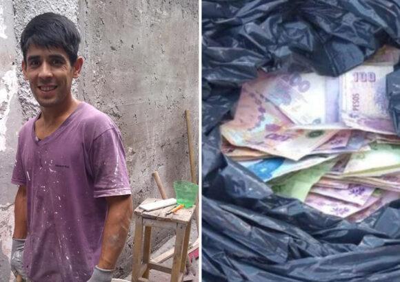 Albañil encuentra una bolsa llena de dinero, la devuelve y lo premian cumpliendo su sueño