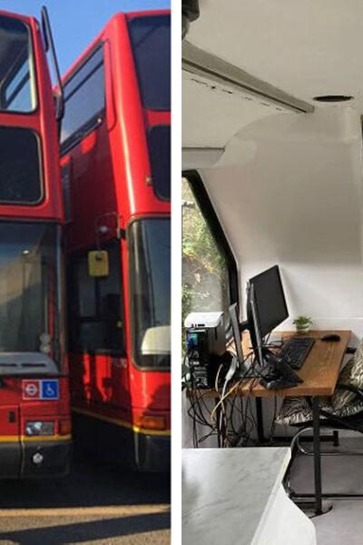 Compró un autobús de dos pisos y ahora lo convirtió en la casa de su sueños