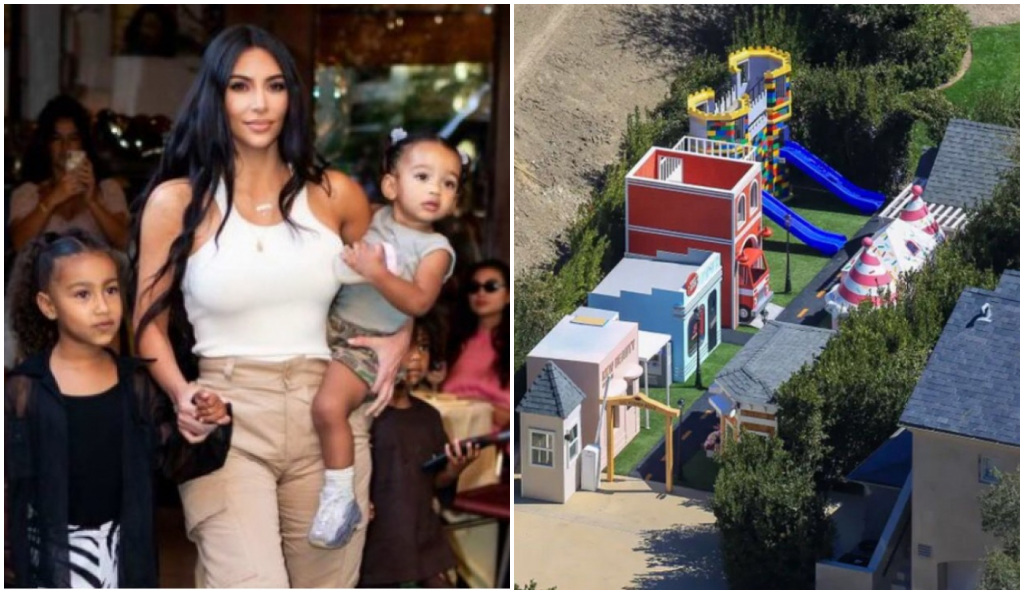 Kim Kardashian creó una pequeña ciudad para que sus hijos pudiesen divertirse