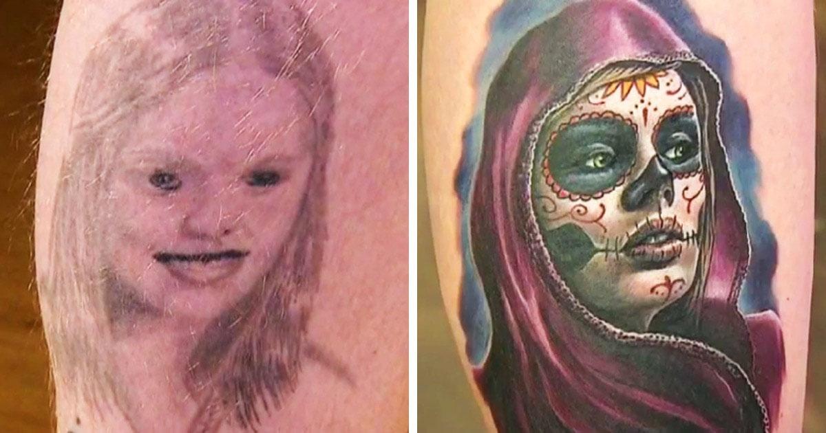 19 Tatuajes increíbles que transformaron errores del pasado en arte