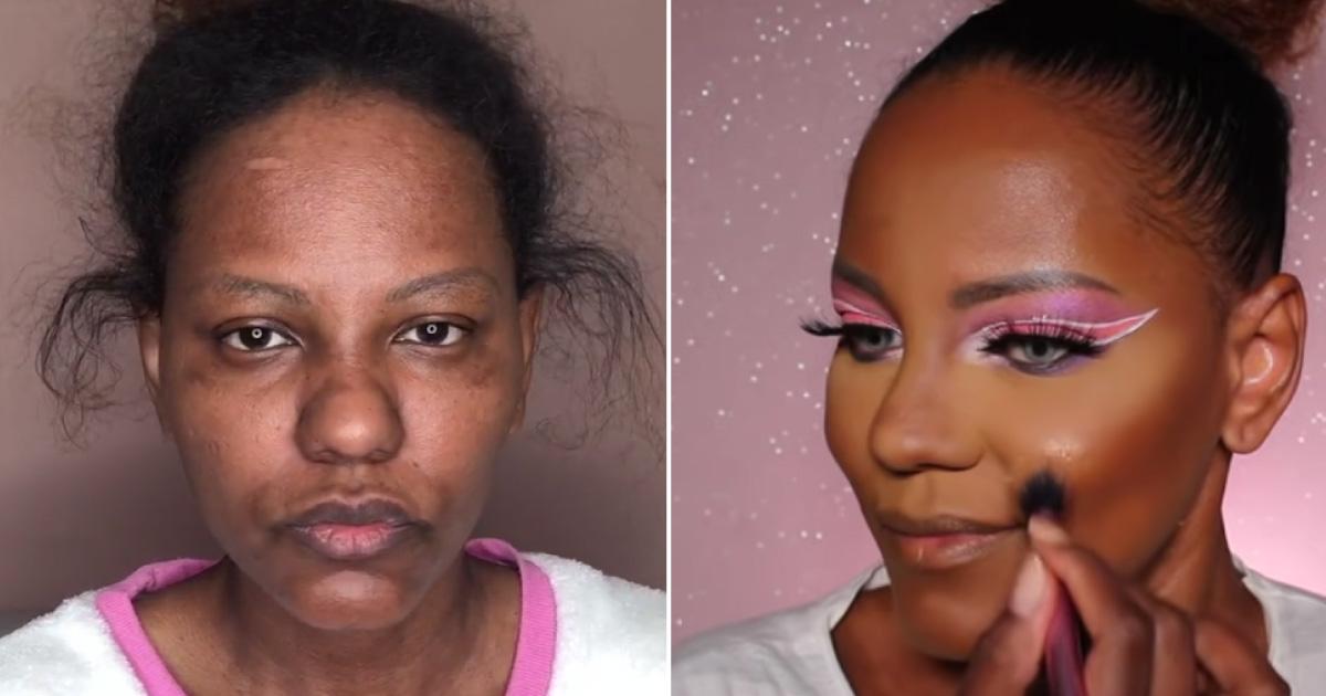 No conseguia trabajo por su apariencia pero todo cambio con su cambio de look y maquillaje