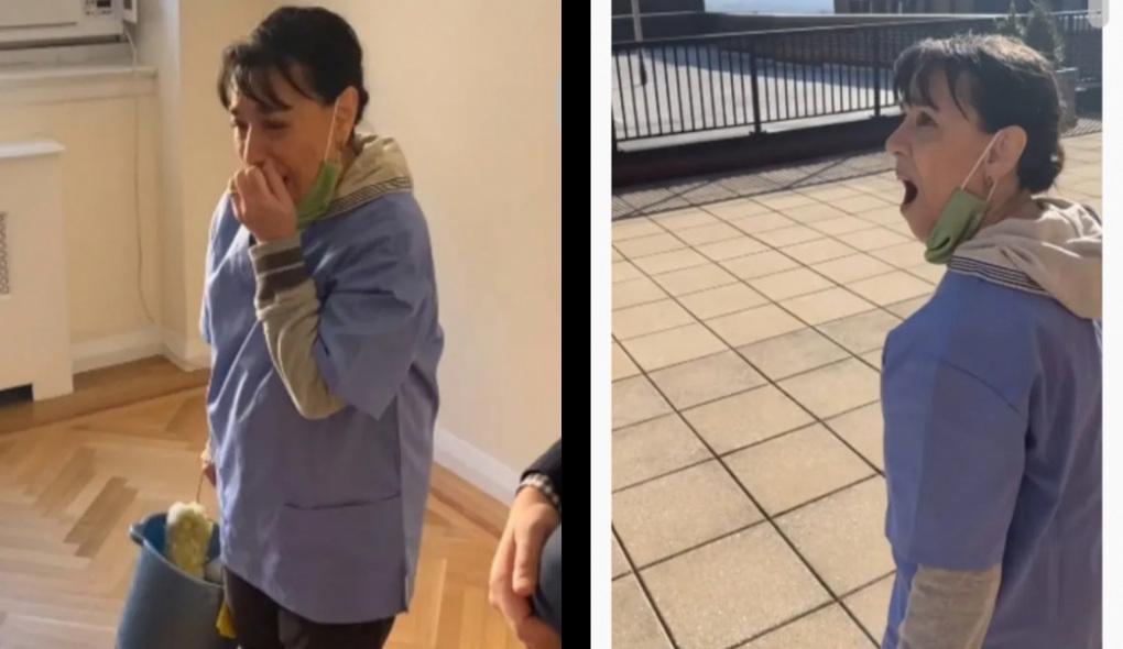 Vecinos le regalan una casita a la mujer de limpieza que perdió su casa