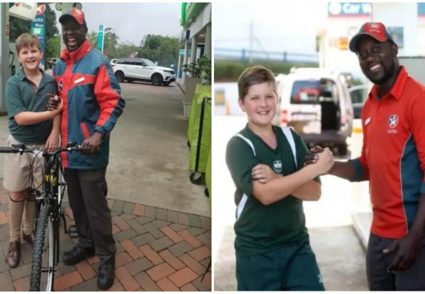 Este niño logra sorprender al gasolinero que le brindo su ayuda desinteresadamente