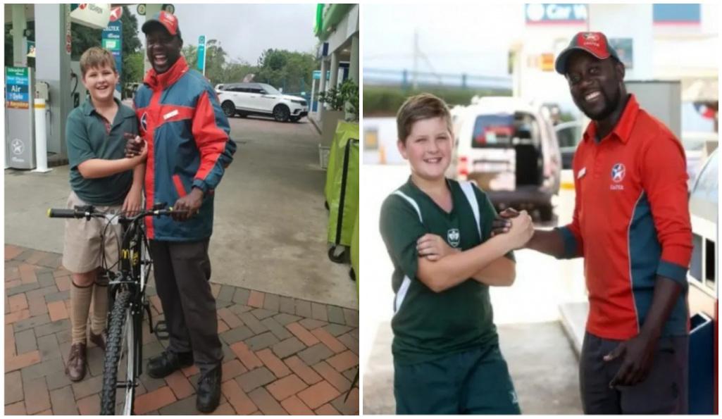 Niño gasta todos su dinero para regalarle una bici al gasolinero que lo ayudó
