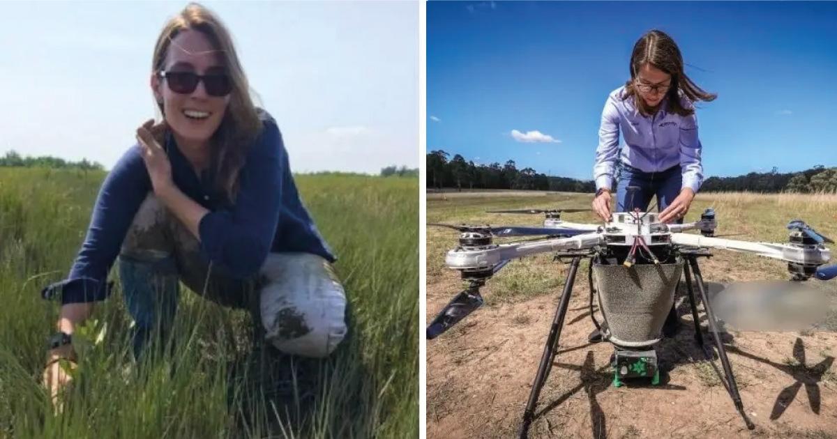 Chica desarrolla un método con drones capaces de sembrar 100 mil arboles por día