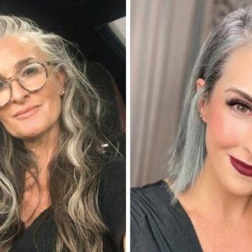 17 mujeres que no se tiñen el cabello y lucen espectaculares